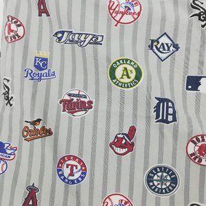 PB Teen MLB American League Double Bed Flat Sheet